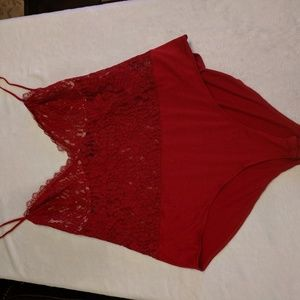 Forever 21 plus size red lace body suit